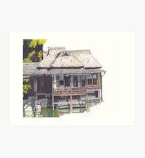 Hakkeitei Guesthouse, Hikone, Japan Art Print