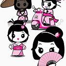 Mikoto 4th Birthday Geishas by mikoto
