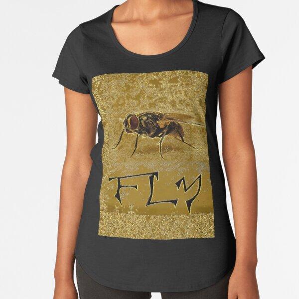 FLIEGE FLIEGE GOLD Premium Rundhals-Shirt