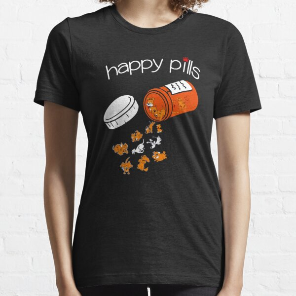 Sweet Cute Adorable Kittens Cats Are My Happy Pills Kids Boys Girls T-Shirt