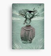 Warning Canvas Print