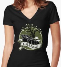 Darwin's Finches Women's Fitted V-Neck T-Shirt