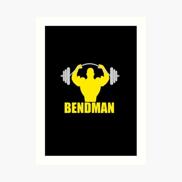 Body Building Workout Bendman Art Print