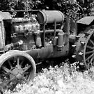 Antique Farm Tractor by Debbie Robbins