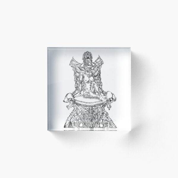The Rise of The Queen of Lightning Atop The Electric Chair Acrylic Block