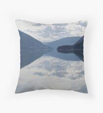 Evening, Lower Arrow Lake (1) Throw Pillow