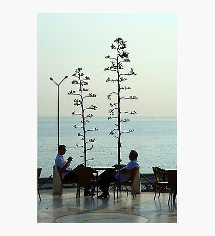 Shooting the breeze in Havana Photographic Print