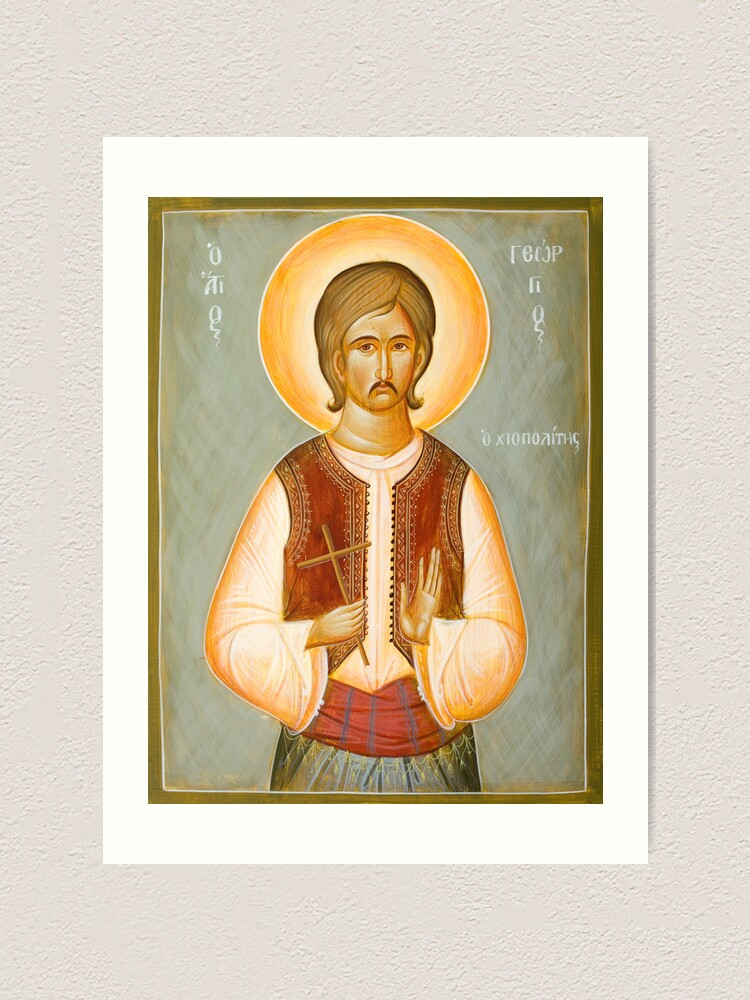 Alternate view of St George of Chios Art Print