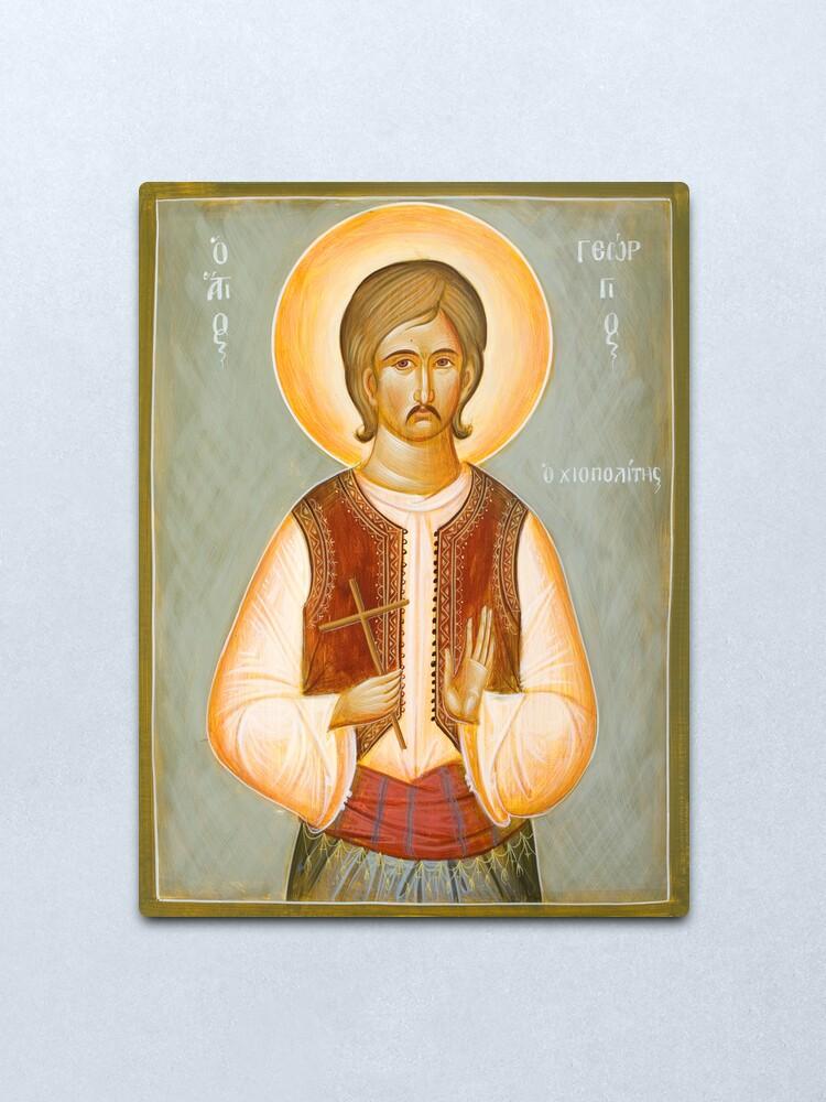 Alternate view of St George of Chios Metal Print