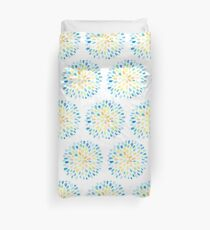 Dewdrops in Blue and Yellow Duvet Cover