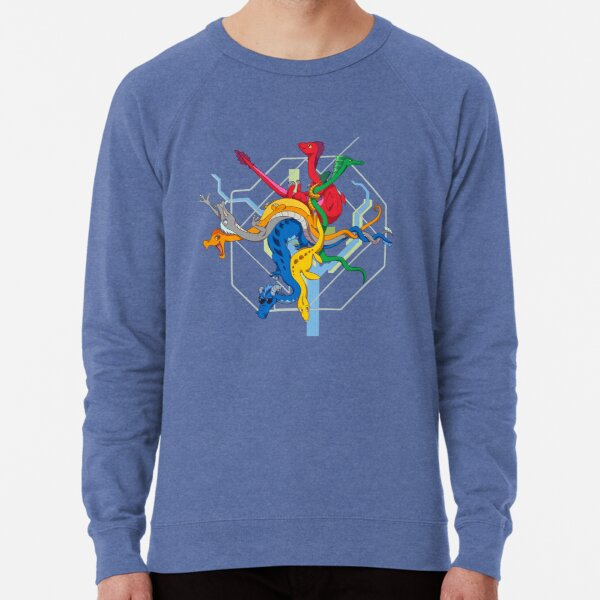 Dragon DC Metro Map - WITH RIVERS AND BORDERS - TRANSPARENT Lightweight Sweatshirt