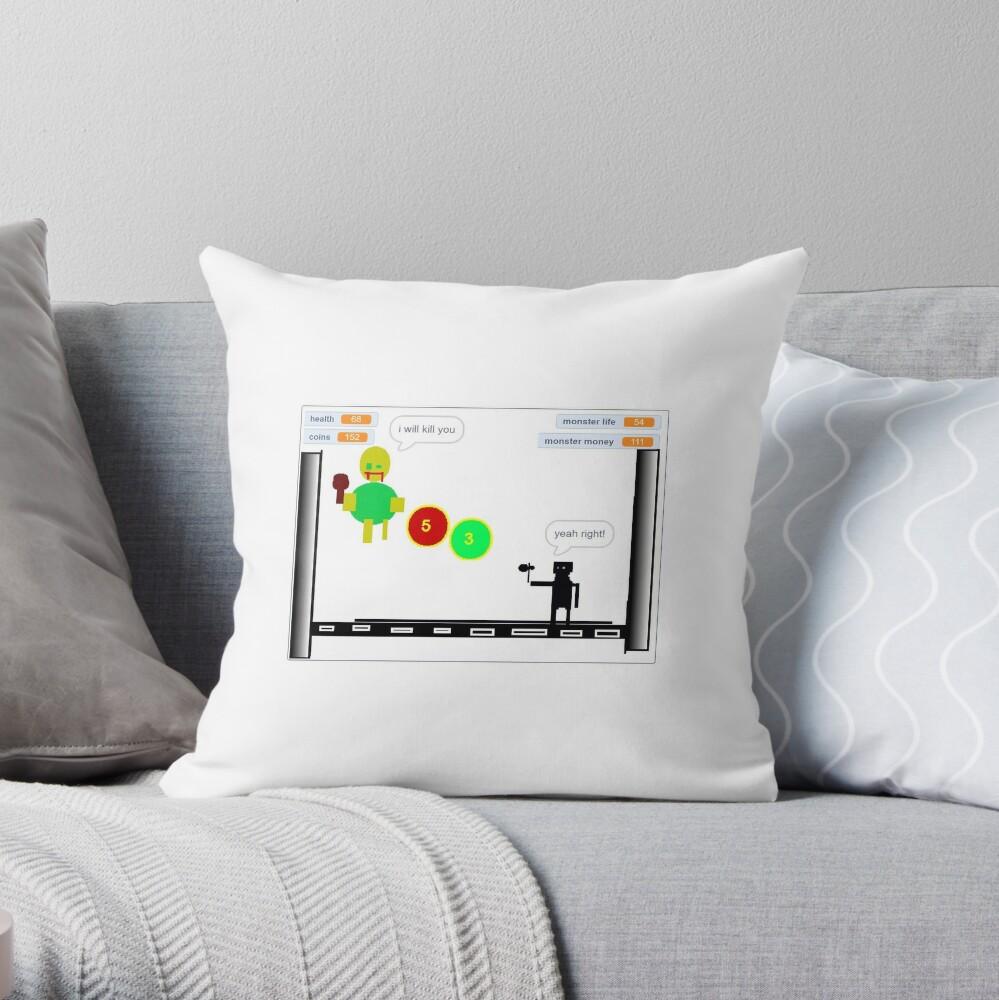 Trampoline Ninja Throw Pillow