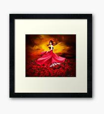 Lady Poppy Framed Print
