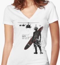 Charlie Don't Surf Women's Fitted V-Neck T-Shirt
