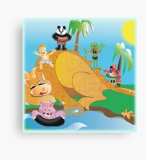 Larravide The Gang at the Watering Hole Canvas Print