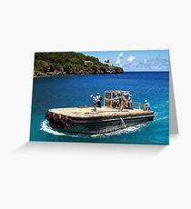 Barge Greeting Card