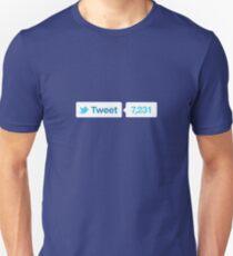 tweet button Unisex T-Shirt