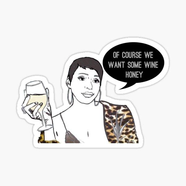 Wine honey Sticker