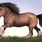 Running horse by LauraMSS