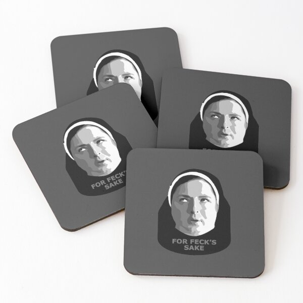 For feck's sake - Sister Michael Derry Girls Coasters (Set of 4)
