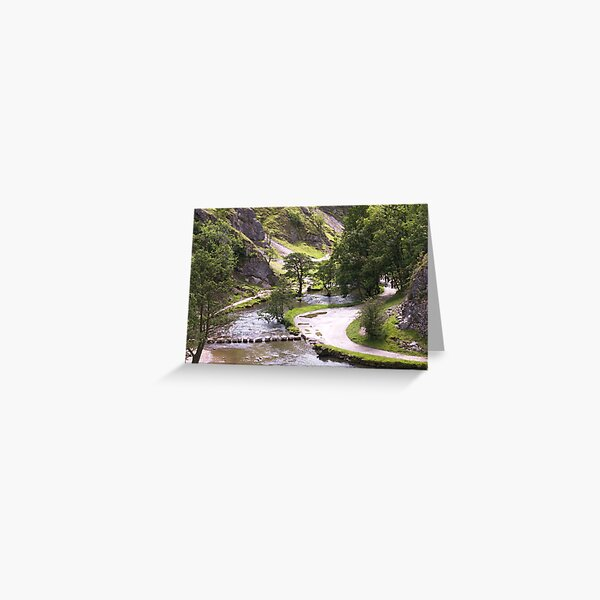 Dovedale Watercolour. Greeting Card