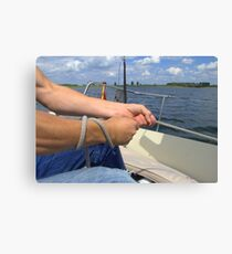 "As I said: ""He's a very good Sailer!"" Canvas Print"