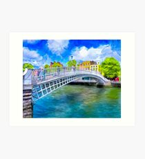 The Ha'Penny Bridge - Historic Dublin Ireland Landmark Art Print