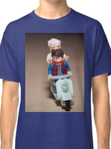 Marty and Doc Brown ride a Scooter Classic T-Shirt