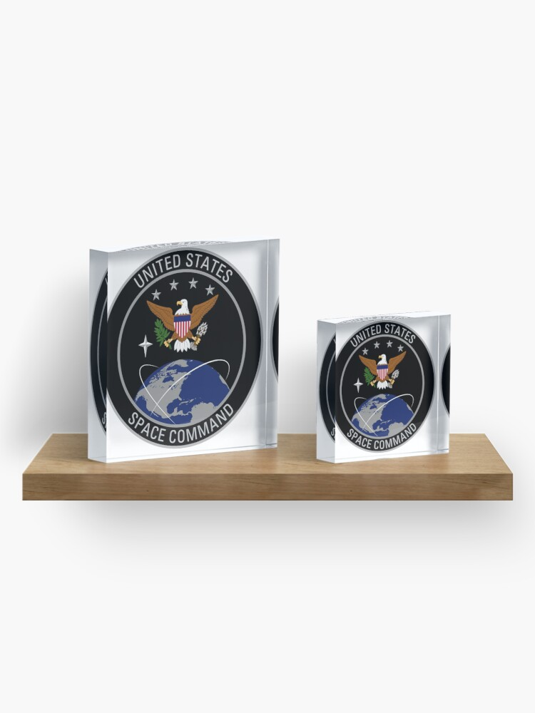 Alternate view of United States Space Command emblem Acrylic Block