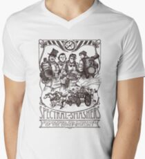 Spectral Smashers on light color Men's V-Neck T-Shirt