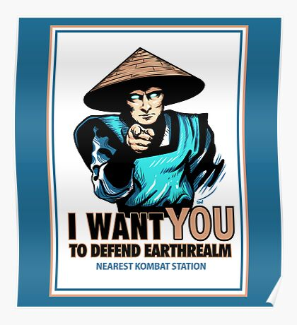 I Want YOU For Kombat Poster
