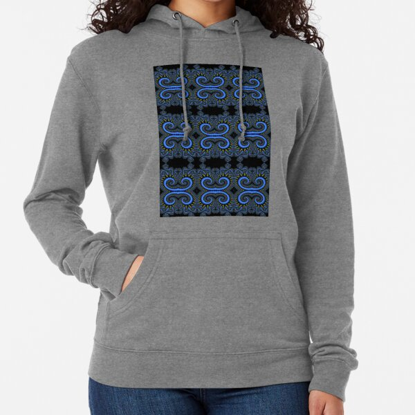 Fractal art is a form of algorithmic art created by calculating fractal objects and representing the calculation results as still images, animations, and media Lightweight Hoodie