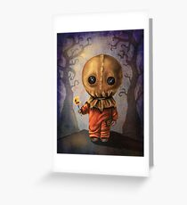 Sam Trick 'R Treat Halloween Greeting Card