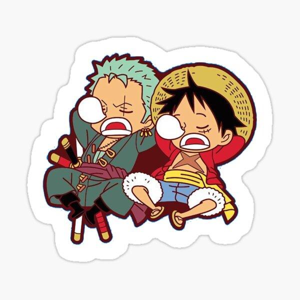 One Piece Luffy Zoro Sticker