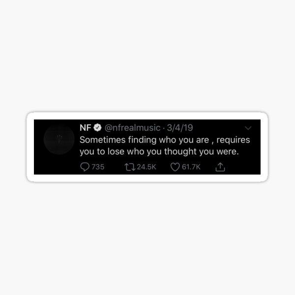 NF Tweets Sticker