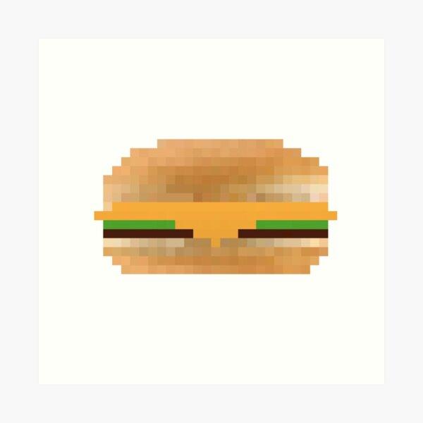Impressions artistiques sur le thème Hamburger Pixel | Redbubble