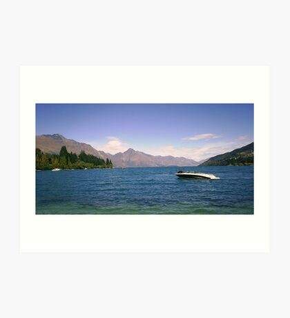 Looking out from Queenstown Art Print