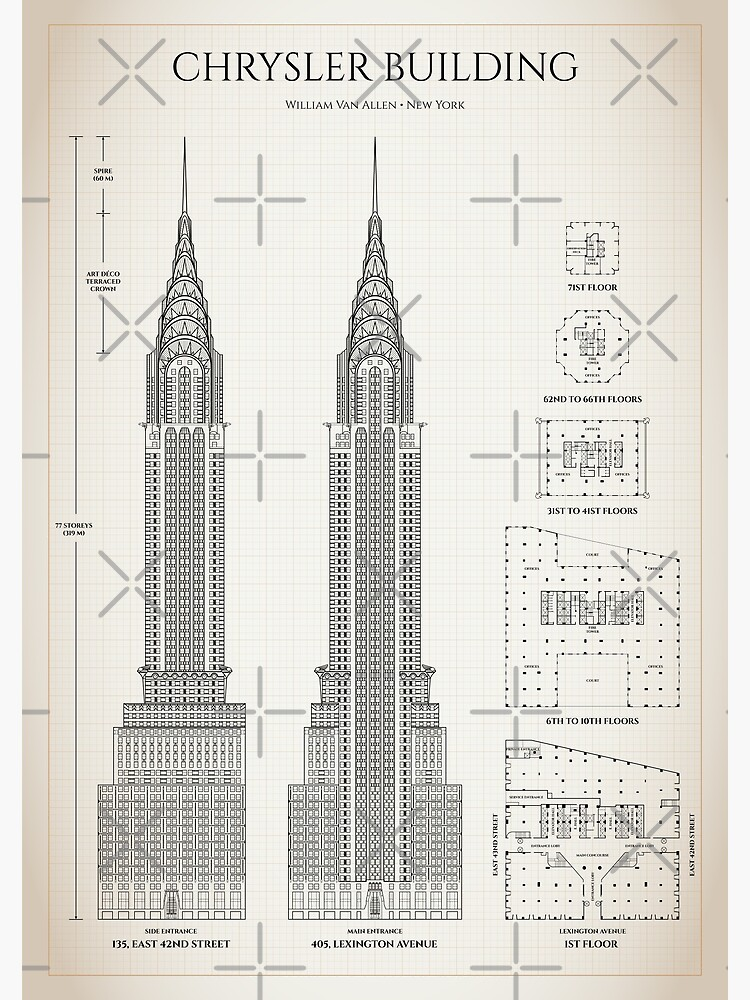Chrysler building (Ivory brown grid) by BGALAXY