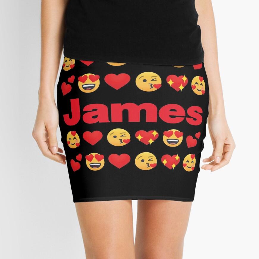 James Emoji My Love for Valentines day Mini Skirt