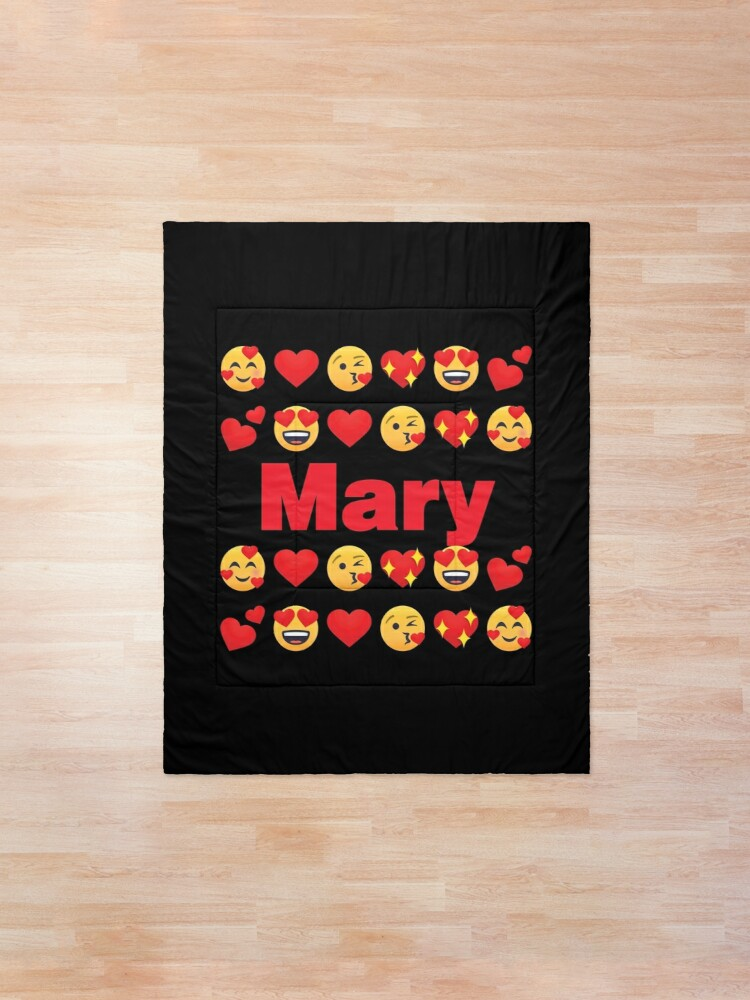 Alternate view of Mary Emoji My Love for Valentines day Comforter