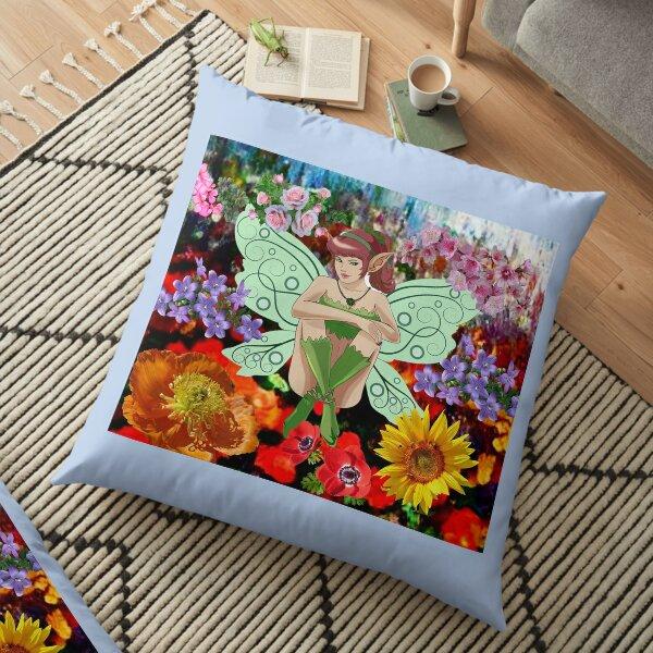 Fairy Garden fantasy family Floor Pillow