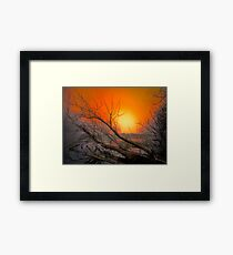 The Big Red Sun Framed Print