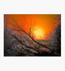The Big Red Sun Photographic Print