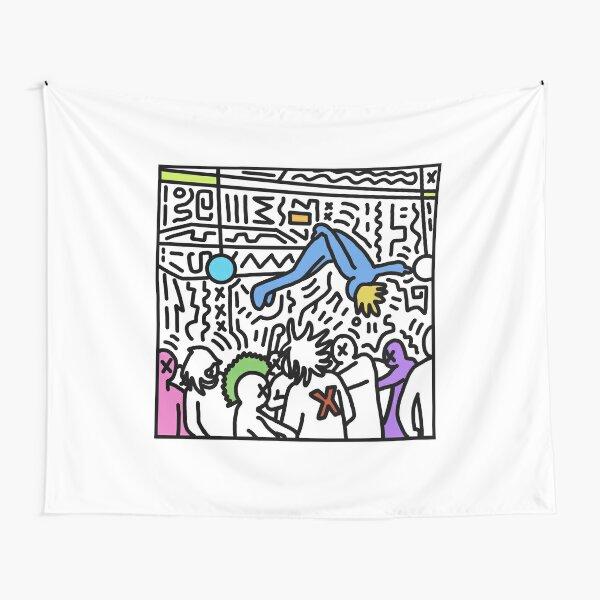 die lit cartoon Tapestry