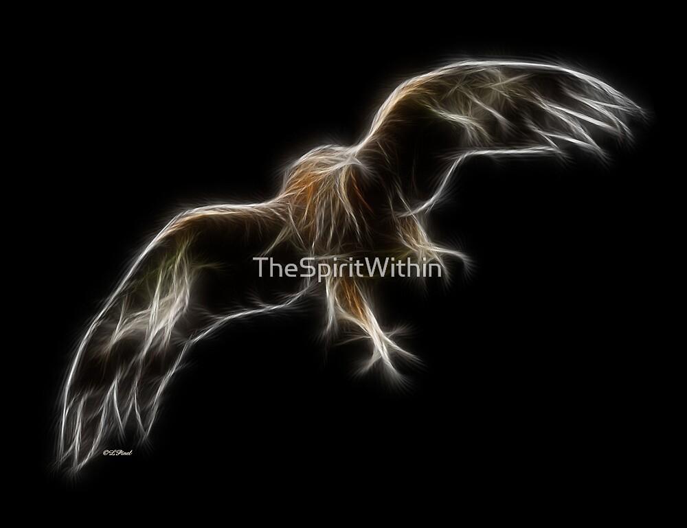 Medicine Wheel Totem Animals by Liane Pinel- Golden Eagle by Liane Pinel