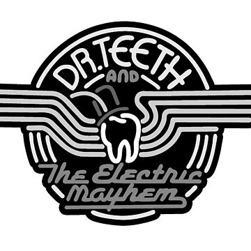 Dr.Teeth y Electric Mayhem - MonoChrome Logo Design de NoirGraphic