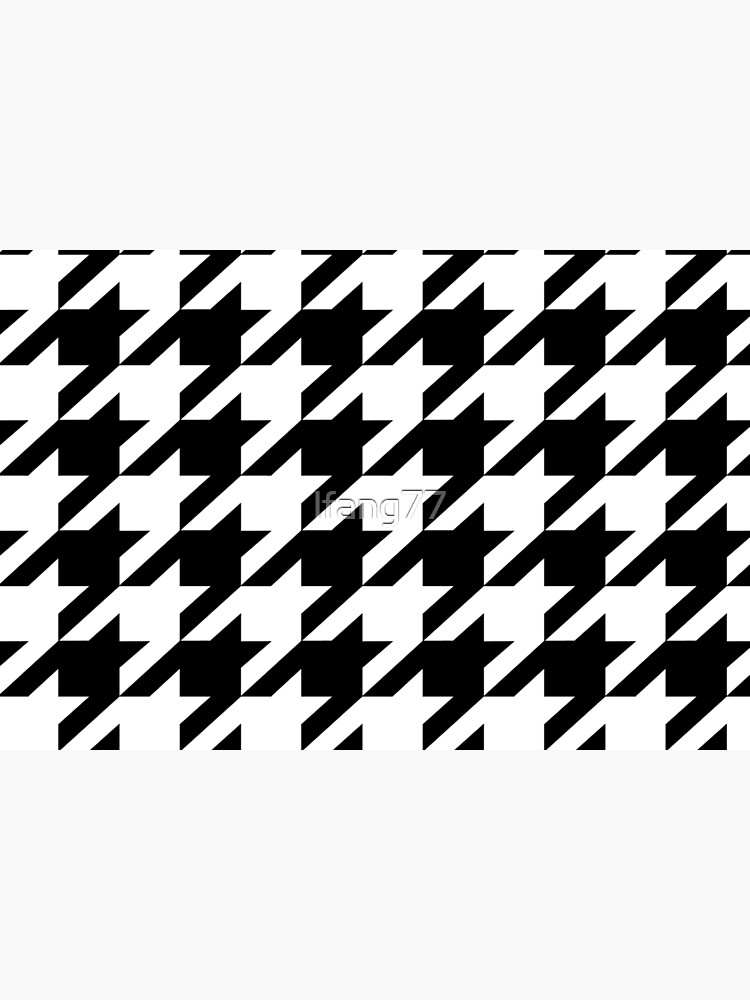 Hip geometric pattern trendy black and white Houndstooth  by lfang77