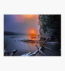 Sunset in the Cascades Suttle Lake Photographic Print