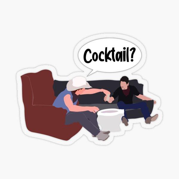 Cocktail? Transparent Sticker