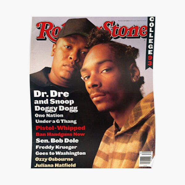 Snoop Doggy Dogg Rolling StoneMagazine Cover Poster